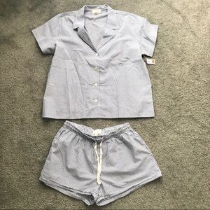 Love by Gap Stripes Pajama Top and Shorts Outfit
